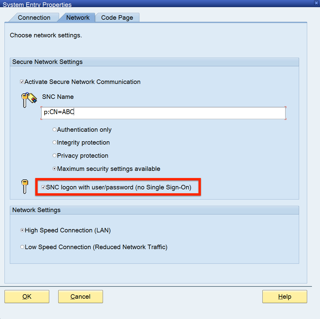 SAP GUI - No Single Sign-On