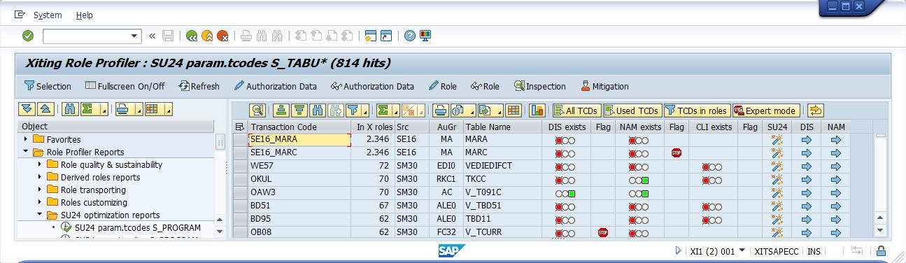 XAMS Role Profiler SU24 Whitelist Optimizer
