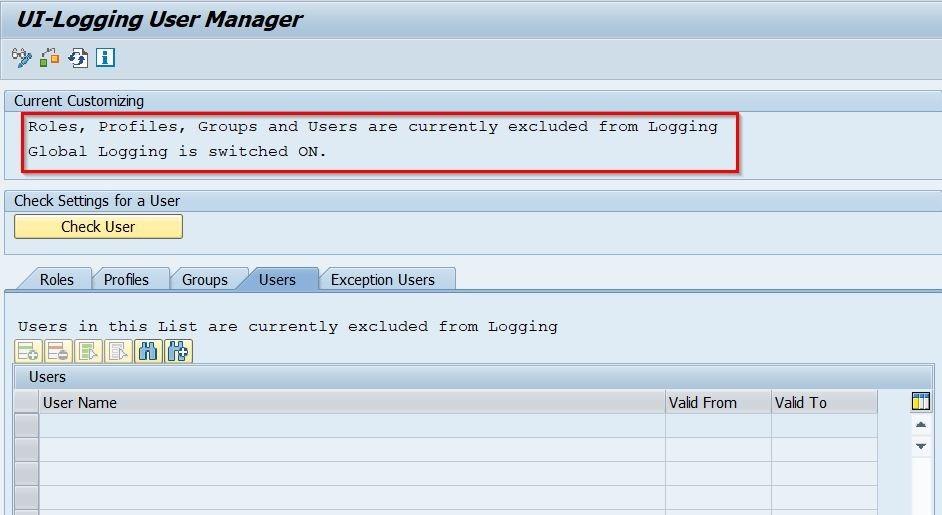 UI Logging User Manager