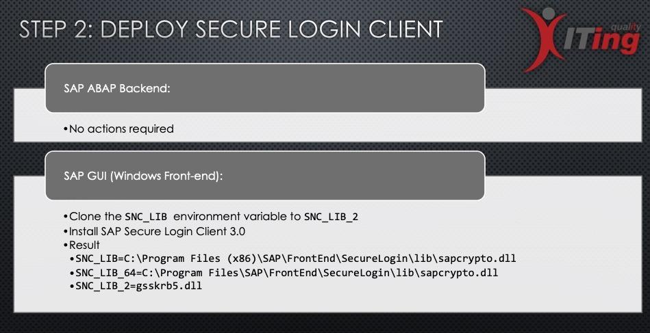 Step 2 - Deploy Secure Login Client