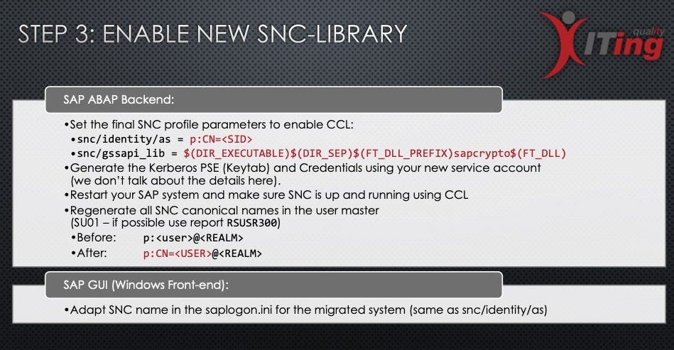 Step 3 - Enable the new SNC Library