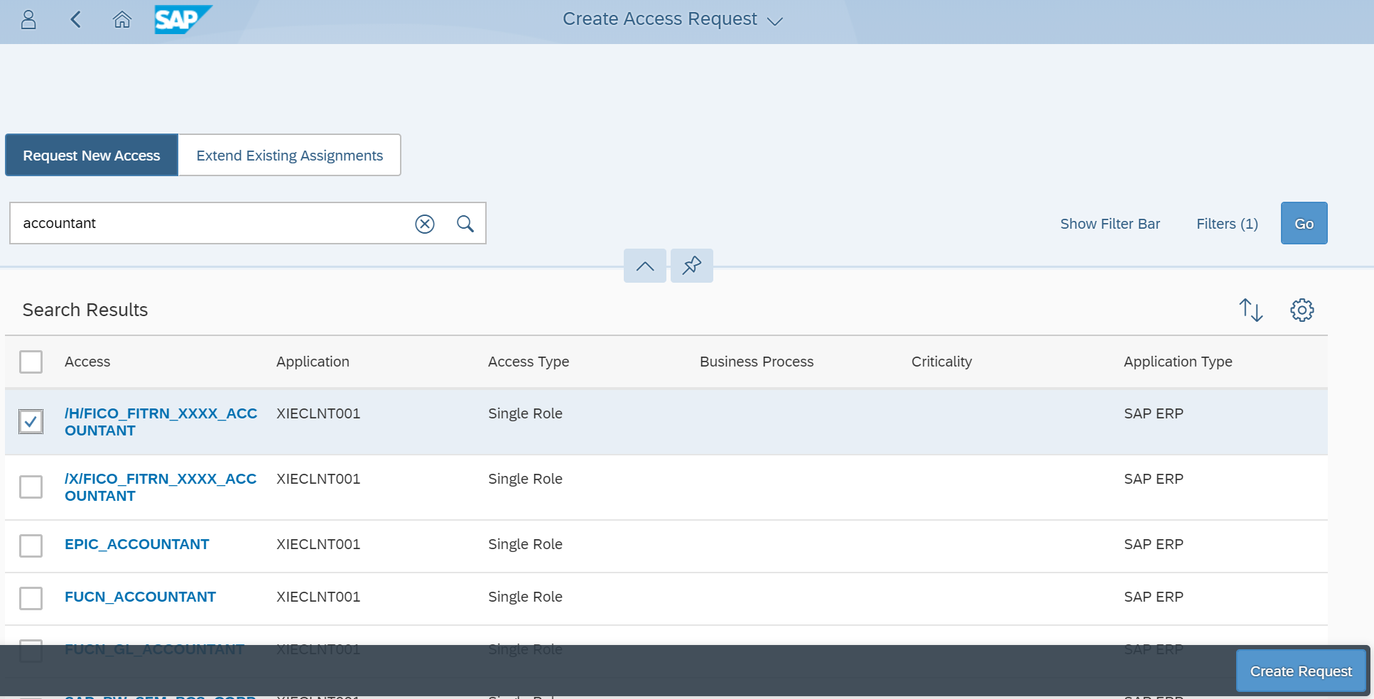 SAP Cloud IAG - Create Access Request